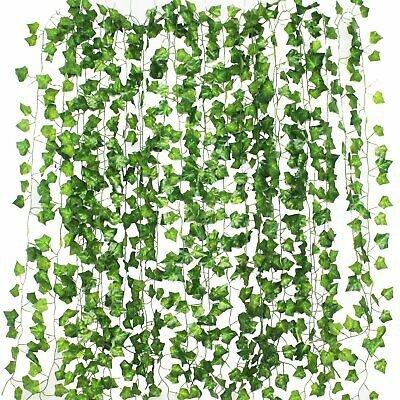 Artificial Leaf Plants Vine Fake Flowers Decor
