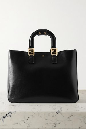 Black Leather tote | Fendi | NET-A-PORTER