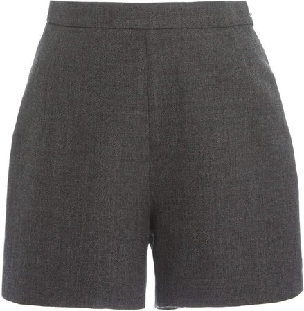 Andrew Gn High-Rise Wool Shorts