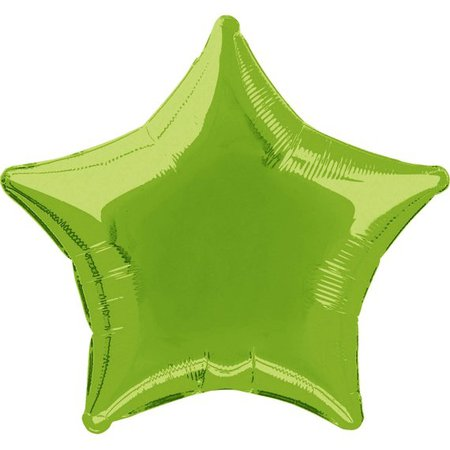 18 Lime Green Star Shaped Mylar Foil Balloon | Etsy