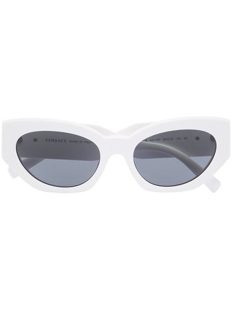 White Versace Eyewear cat-eye sunglasses - Farfetch