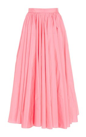 Pleated Taffeta A-Line Skirt By Delpozo | Moda Operandi