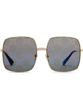 Gucci Eyewear rectangular-frame Sunglasses - Farfetch