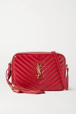 Lou Medium Quilted Leather Shoulder Bag - Red