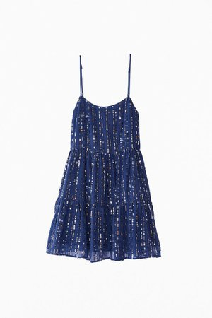 UO Hanna Embellished Sequin Babydoll Mini Dress | Urban Outfitters