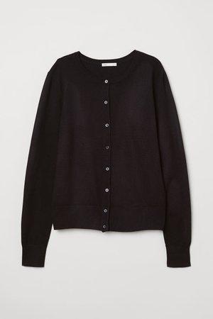 Fine-knit Cardigan - Black - Ladies | H&M US