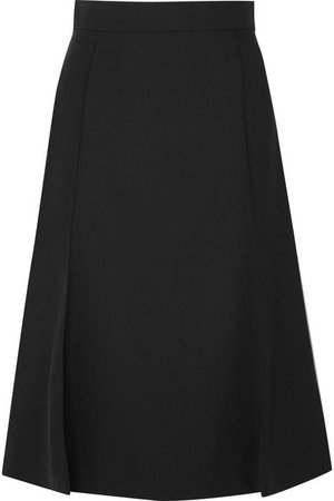 Chloé   Pleated stretch-wool midi skirt   NET-A-PORTER.COM
