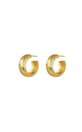 Gold-Tone Wavey Hoops by VALÉRE | Moda Operandi