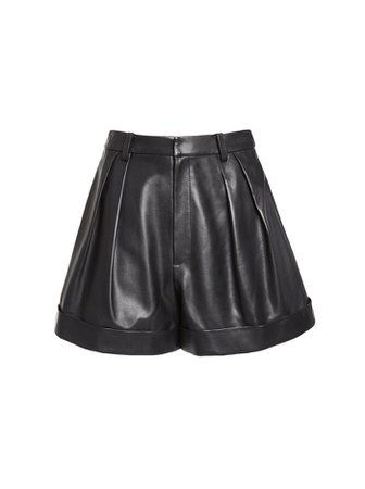Conry Leather Pleated Shorts | Alice And Olivia