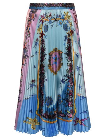Printed Pleated Skirt