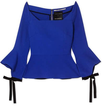 Holden Off-the-shoulder Crepe Peplum Top - Blue
