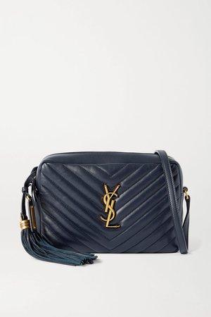 Navy Lou quilted leather shoulder bag | SAINT LAURENT | NET-A-PORTER