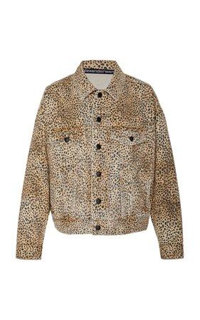 Game Cheetah-Print Denim Jacket by Alexander Wang   Moda Operandi