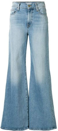 high rise flared style jeans