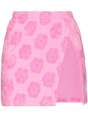 Frankies Bikinis Stacey Floral Terry Skirt - Farfetch