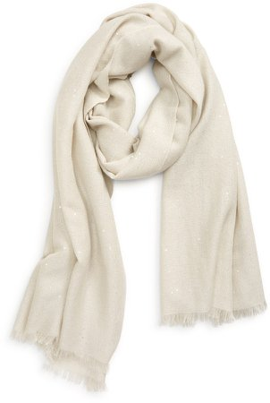 Sequin Cashmere & Silk Scarf