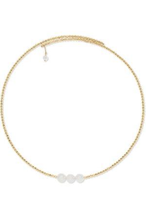 Mizuki | 14-karat gold pearl choker | NET-A-PORTER.COM