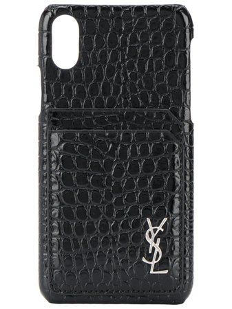 SAINT LAURENT crocodile effect iPhone case