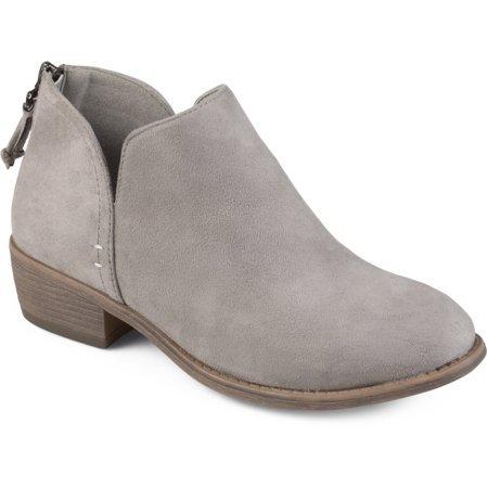 Brinley Co. - Brinley Co. Women's Tassel Faux Suede Comfort Sole Bootie - Walmart.com grey