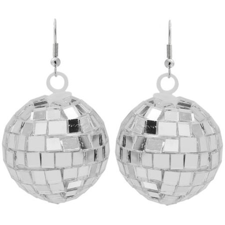 "1 1/4"" Diameter Christmas Disco Ball Earrings"