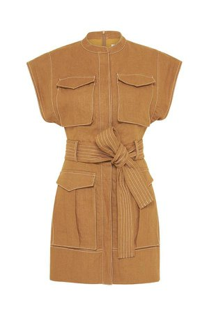 Eames Linen Utility Mini Dress | Nutmeg | Dresses | Shona Joy – Shona Joy International