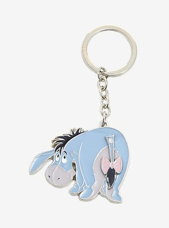 Loungefly Disney Winnie the Pooh Eeyore Swinging Tail Enamel Keychain - BoxLunch Exclusive