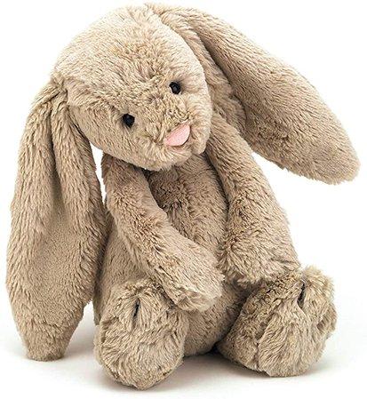 Amazon.com: Jellycat Bashful Beige Bunny Stuffed Animal, Medium, 12 inches: Toys & Games