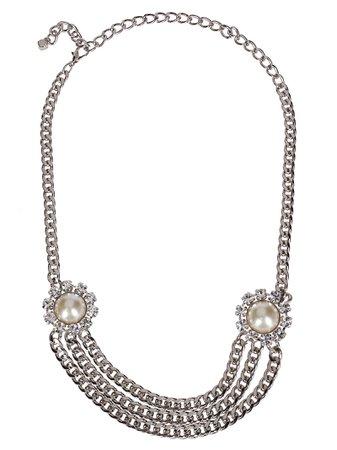 Silver-tone Metal Necklace