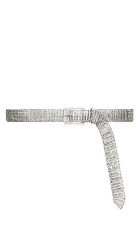 Shop Women's Plus Size Plus Size Crystallize Belt - silver