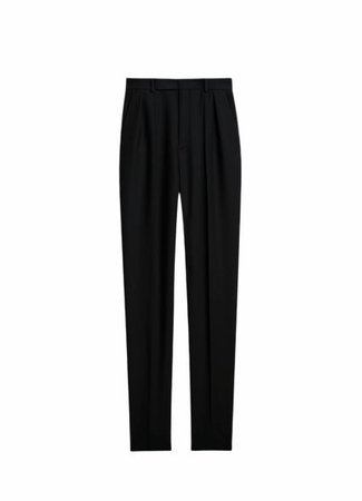 Celine CLASSIC PANTS WITH TWO PLEATS IN WOOL AND MOHAIR