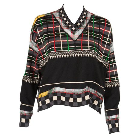 Multicolored Jean Paul Gaultier Wool Sweater For Sale at 1stdibs