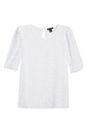 Halogen® Puff Sleeve Lace Top | Nordstrom