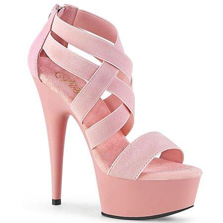 Platform High Heels DELIGHT-669 - Baby Pink, Pleaser