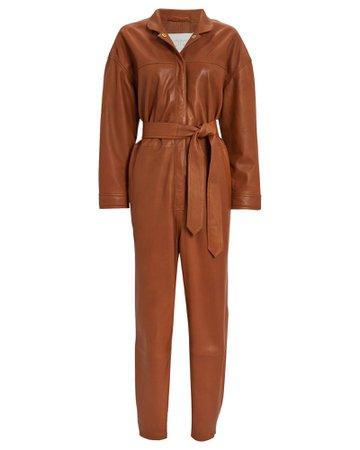Notes Du Nord   Nixon Leather Jumpsuit   INTERMIX®