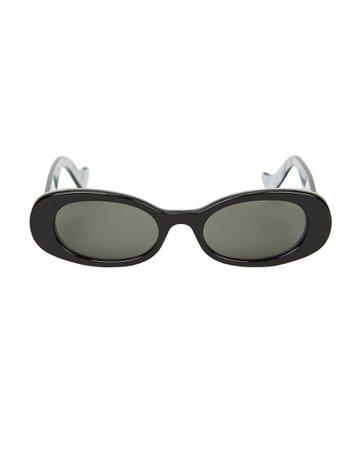 Bi-Layer Oval Sunglasses | INTERMIX®