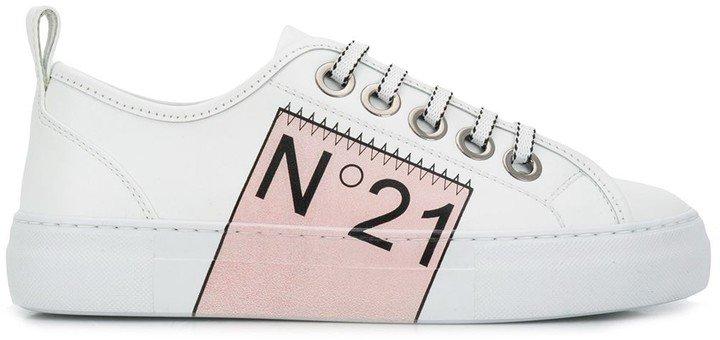 Logo Print Low Top Sneakers