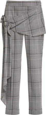 Hellessy Pierre Tie-Waist Plaid Pants