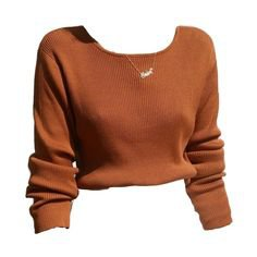 Rust Orange Sweater Shirt