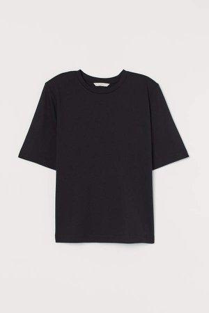 Shoulder-pad T-shirt - Black