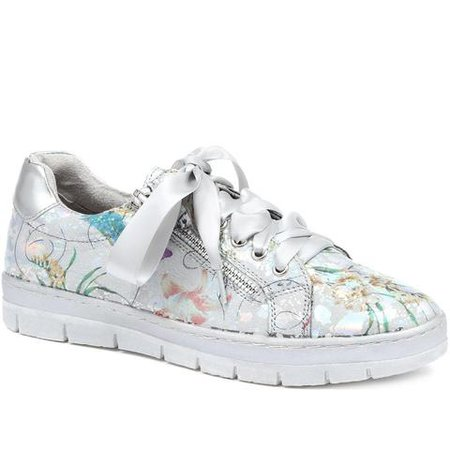 Metallic Ribbon Laced Trainers (WBINS31077) by Pavers @ Pavers Shoes - Your Perfect Style.