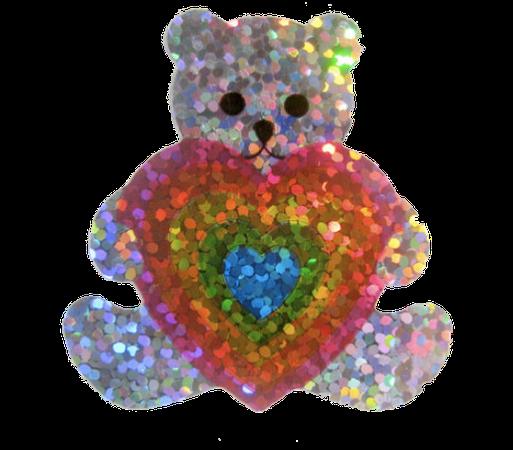 Sparkle bear sticker