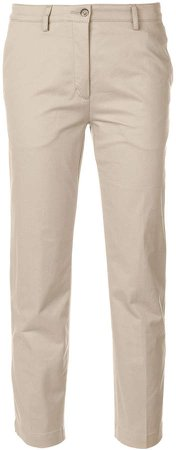 contrasting side panel trousers