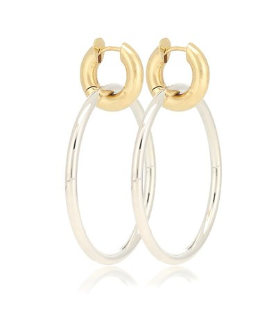 Spinelli Kilcollin - Casseus SG 18kt gold and sterling silver hoop earrings | Mytheresa