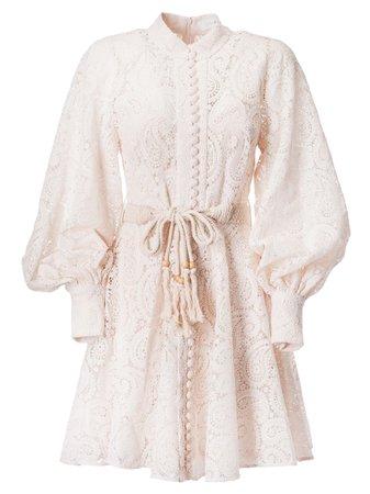 Zimmermann Amari Paisley Lace Short Dress