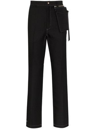 Nulabel Straight-Leg Trousers 111701 Black | Farfetch