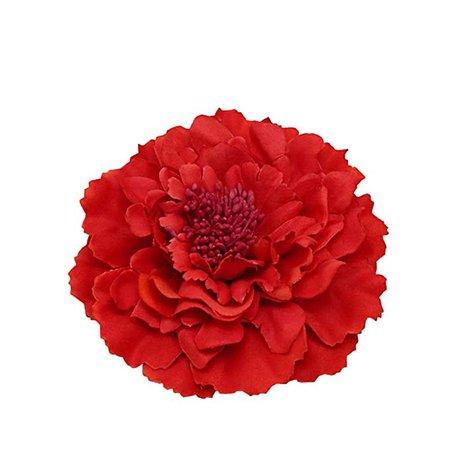 Amazon.com : Kewl Fashion Women's Bohemia Peony Flowers Hairpin Hair Clip Flower Brooch (Red #1) : Beauty