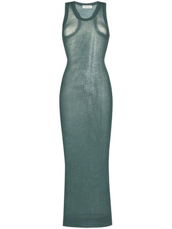 Shop green extreme cashmere Vanish sleeveless midi dress with Express Delivery - Farfetch