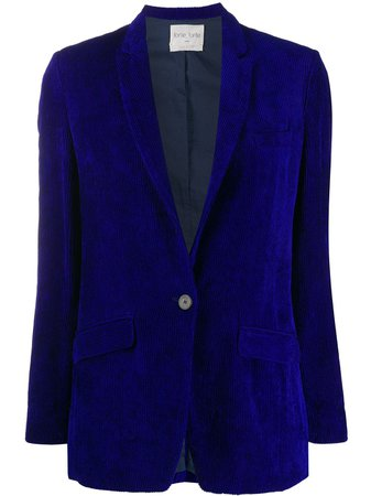 Shop blue Forte Forte single-breasted fitted blazer with Express Delivery - Farfetch