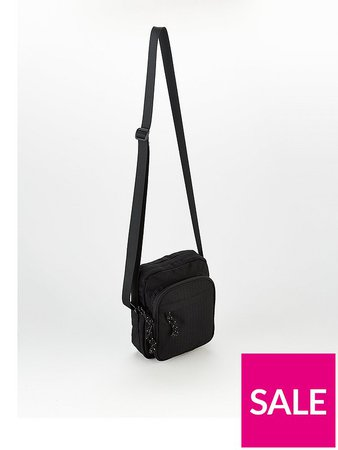 Topman Pouch Cross-Body Bag - Black | very.co.uk