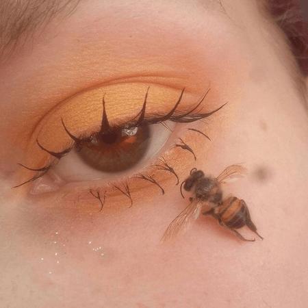soft girl yellow eye makeup